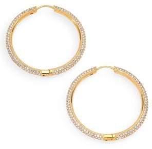 "Adriana Orsini Pave Hoop Earrings/1.4"""