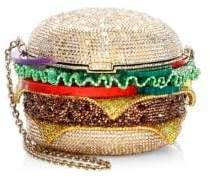 Judith Leiber Couture Crystal Hamburger Clutch