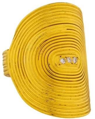 Yossi Harari 24K Diamond Vinyl Oval Ring
