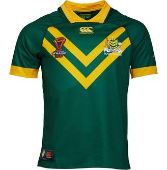 a50f29e2c69 Canterbury of New Zealand Mens Kangaroos Rugby Home Pro Jersey Centenary  Green