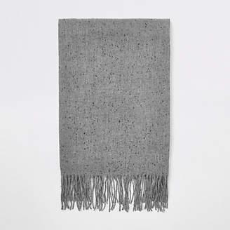 River Island Mens Grey woven scarf