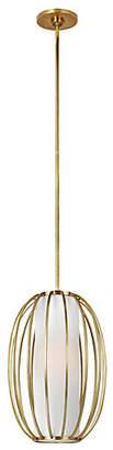 Visual Comfort & Co. Carousel Oblong Pendant - Soft Brass