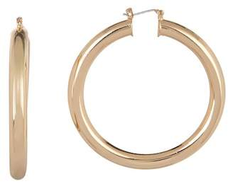 Free Press Thick Tube 50mm Hoop Earrings