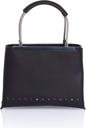 Alexander Wang Dime Black Leather Satchel