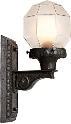 Rejuvenation Cast Iron Entry Sconce w/ Faceted Shade