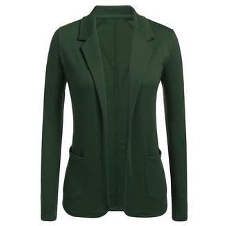 Caopixx Women Clothing Caopixx Women's Formal Long Sleeve Slim Fitted Office Work Blazers Cardigan Elegant Slim Coat Jackets Suits