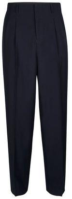 TOPMAN PREMIUM Navy High Waisted Dress Pants $80 thestylecure.com