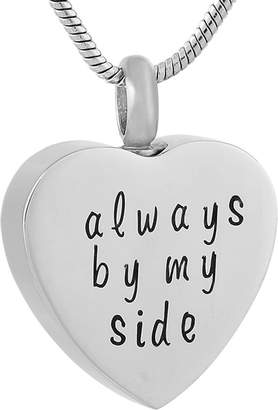 Keepsake constantlife Always By My Side Engraved Cremation Pendant Memorial Ashes Urn Necklace