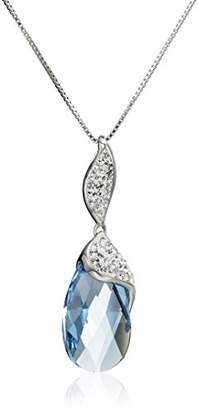 Swarovski Sterling Silver Briolette with Crystals Pendant Necklace