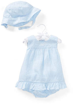 Ralph Lauren Linen Sun Layette Set, Size 9-24 Months