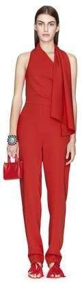 Lanvin Poppy Scarf Collar Jumpsuit