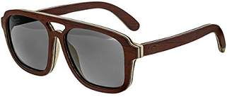 Earth Wood Playa Polarized Aviator Sunglasses