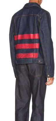Helmut Lang Re-Edition Red Stripe Denim Jacket