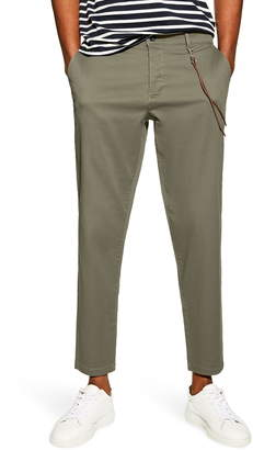 Topman Slim Fit Dress Pants With Cord Chain