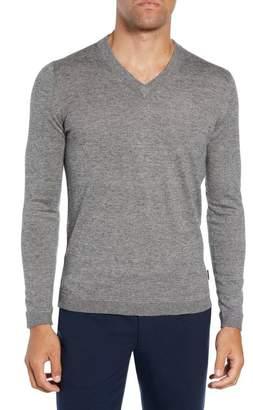 Ted Baker Noel Slim Fit V-Neck Sweater