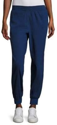 Donna Karan Rib Trim City Stretch Track Pants