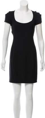 Zac Posen Gathered Wool-Blend Dress