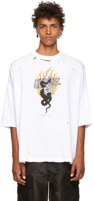 Unravel SSENSE Exclusive White Flame T-Shirt