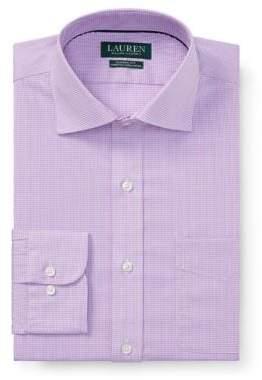 Lauren Ralph Lauren Classic-Fit No-Iron Plaid Dress Shirt