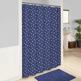 Vue Glam Stripe Polka-Dot Shower Curtain