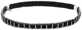 Saint Laurent Grid chain headband
