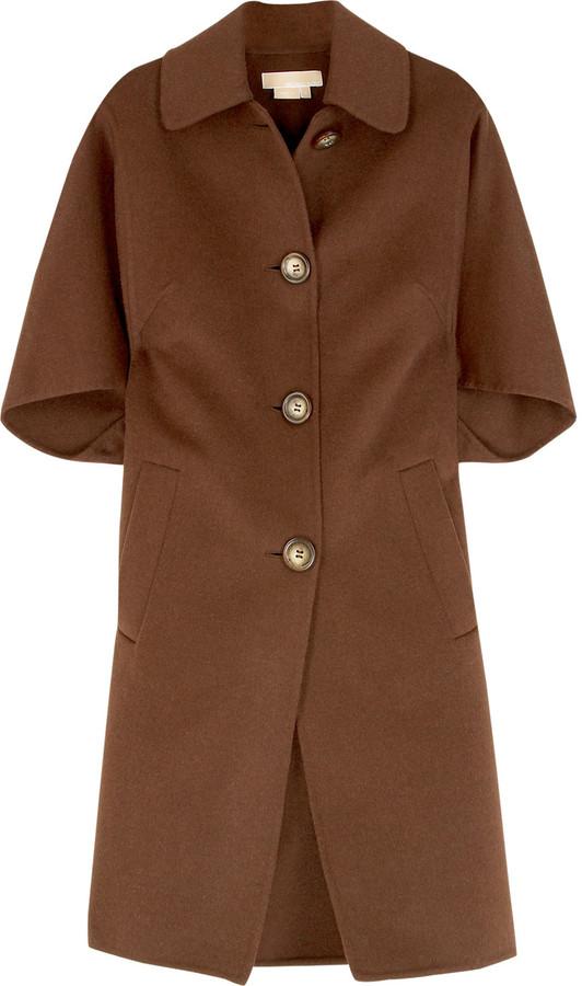 Michael Kors Single-breasted trapeze coat