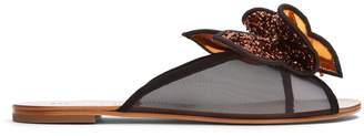 Sophia Webster Lana sequin-embellished slides