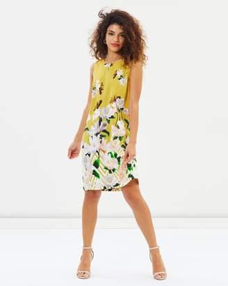 Zig-Zag Floral Shift Dress