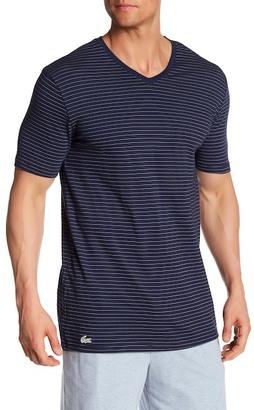 Lacoste Short Sleeve V-Neck Stripe Tee $42 thestylecure.com