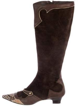 Rebeca Sanver Suede Knee-Length Boots