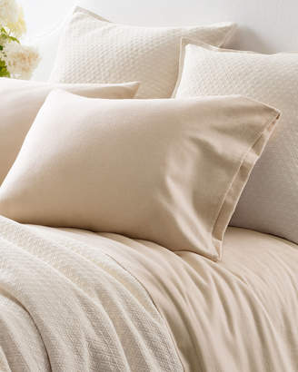 Pine Cone Hill Chambray Flannel Full Sheet Set, Beige