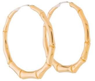 Gucci 18K Bamboo Hoop Earrings