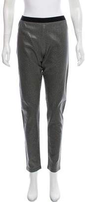 Rene Lezard Printed High-Rise Pants w/ Tags