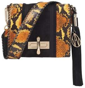 Amanda Wakeley Ochre Python Suede Costello Bag