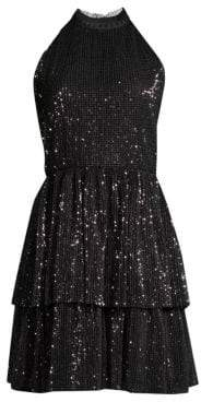 Shoshanna Hollybrook Sequined Mini Dress