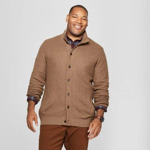 Goodfellow & Co Men's Big & Tall Light Weight Button-Up Cardigan