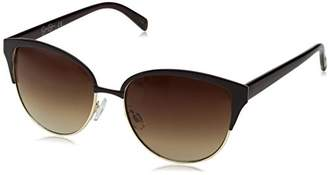 Jessica Simpson Women's J5373 GLDBR Non-Polarized Iridium Cateye Sunglasses