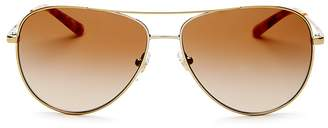 Tory Burch Women's Brow Bar Aviator Sunglasses, 59mm