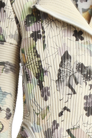 3.1 Phillip Lim Floral Corded Moto Jacket