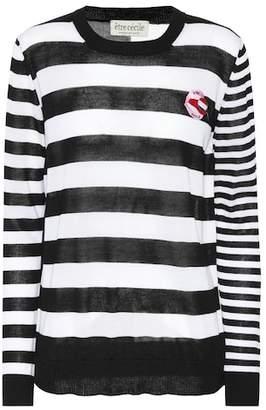Être Cécile Boyfriend striped wool sweater