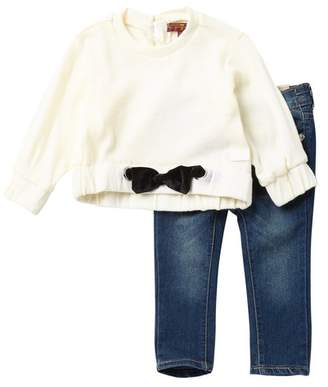 7 For All Mankind Sweater & Jeans 2-Piece Set (Baby Girls)