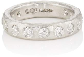 Womens White-Diamond-Embellished Layered Band Malcolm Betts iVAd9BBn