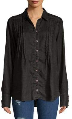 Free People Breezy Mornings Linen Button-Down Shirt