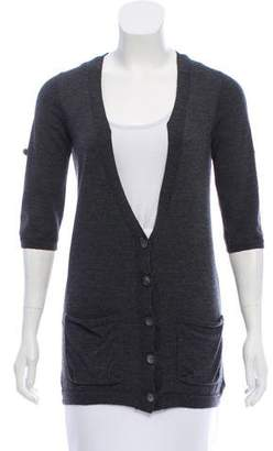 Theory Longline Wool Cardigan