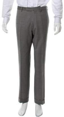 Borrelli Wool Flat Front Pants