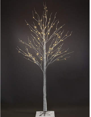 The Holiday Aisle 7' White Birch Artificial Christmas Tree with 120 Warm White LEDs and Adjustable Branches
