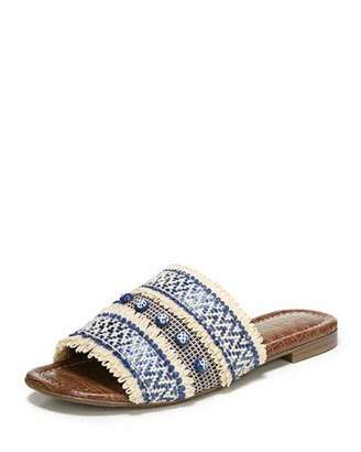 Sam Edelman Brandon Embroidered Flat Slide Sandal