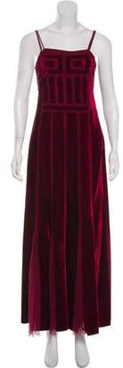 Alberta Ferretti Velvet and Lace Gown