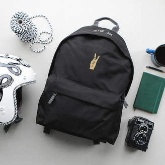 Art Disco 'Peace Out' Black Backpack