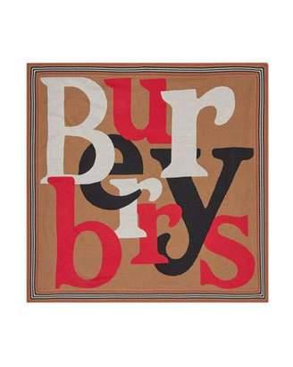 Burberry Logo Icon Stripe Baby Blanket